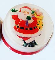 Новогоднее мыло ручной работы со Дедом Морозом
