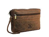 Сумка-борсетка кожаная ALWAYS WILD LB14H Brown коричневый