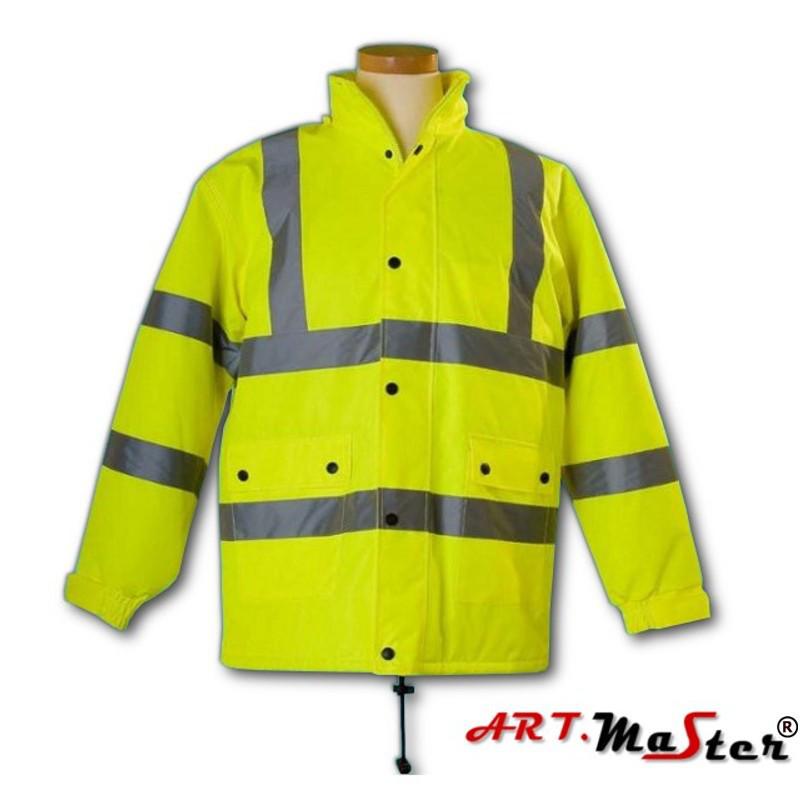 Светоотражающая куртка ARTMAS желтого цвета KURTKA FLASH żółta kat.2
