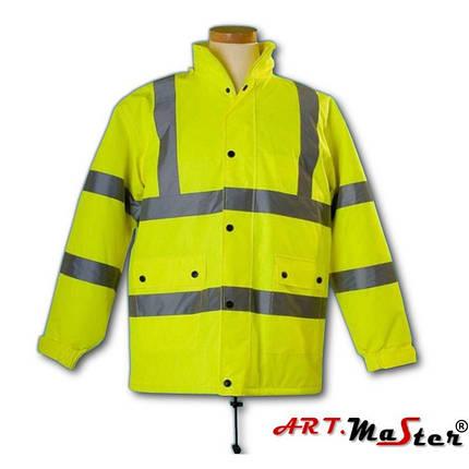 Светоотражающая куртка ARTMAS желтого цвета KURTKA FLASH żółta kat.2, фото 2