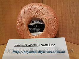 100% мерсеризованный хлопок (50г/ 225м) Yarnart Lily 6322