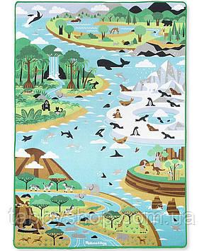 """Игровой коврик Melissa&Doug """"Путешествие по миру"""" с животными"""