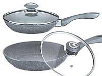 Сковорода с крышкой Benson 26см (Гранитное покрытие) BN-516, фото 1