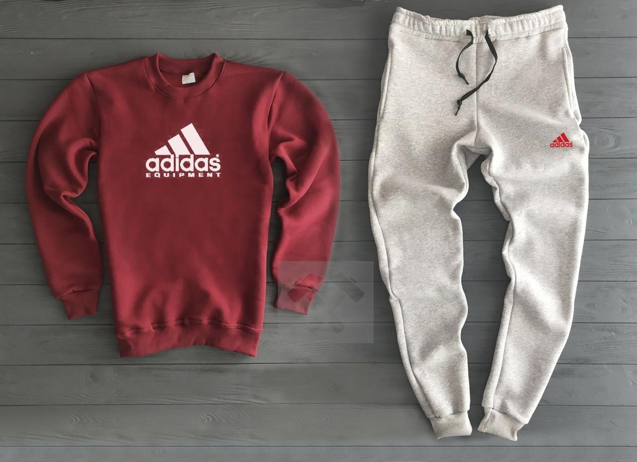 Спортивный Костюм Adidas Красный с Серым Топ Реплика — в Категории ... e5cfeda92f9