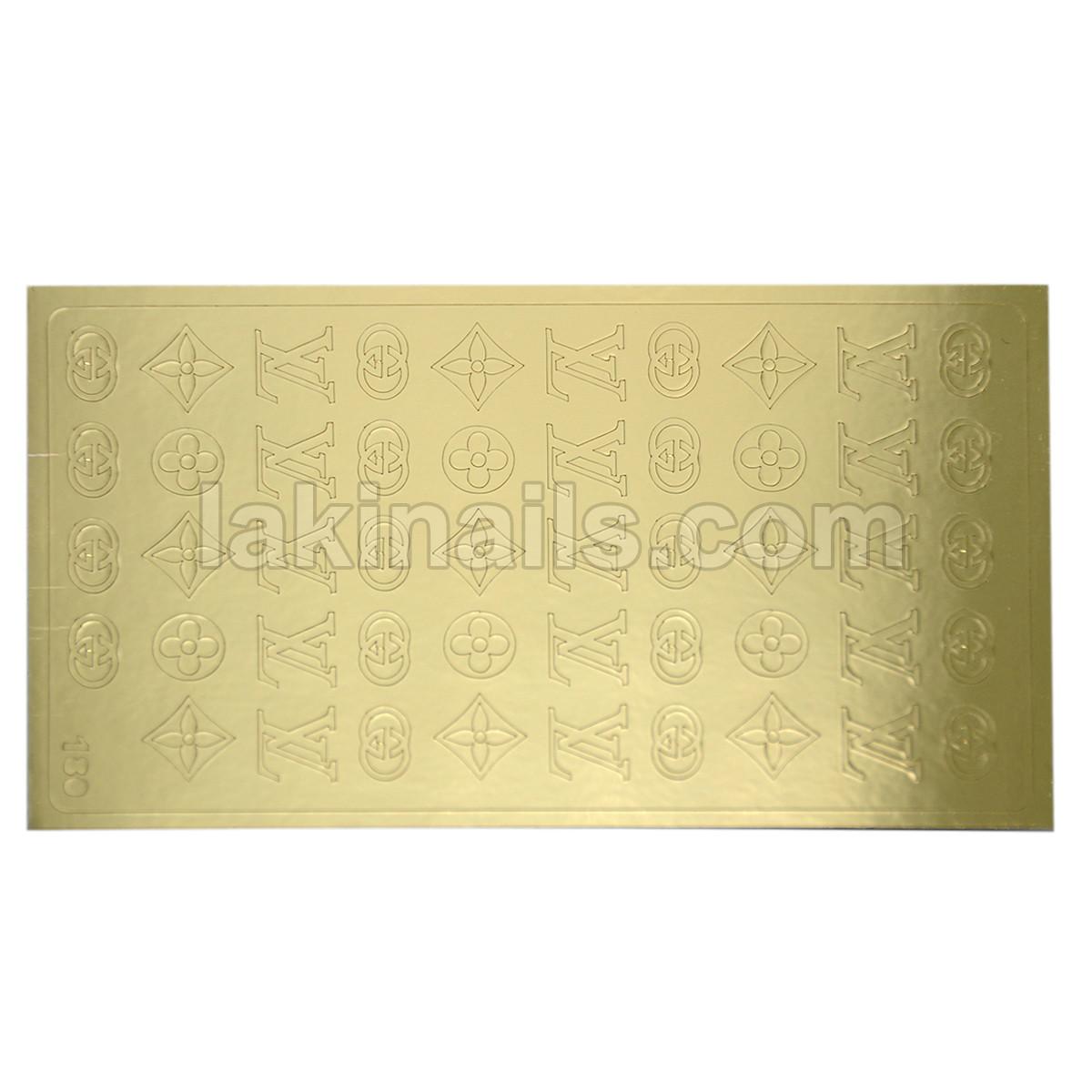 Металлизированные наклейки, золото, 180G
