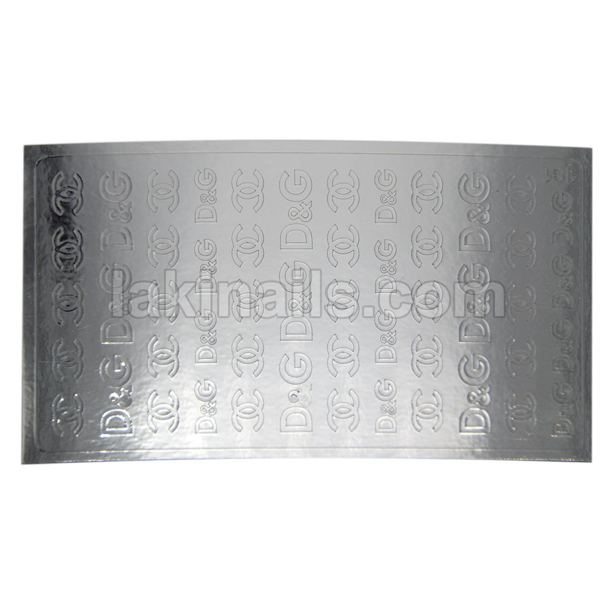 Металлизированные наклейки, серебро, 181S