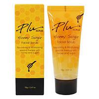 Питательный медовый скраб для лица с сахаром Plu Honey Sugar Facial Scrub, 50 мл
