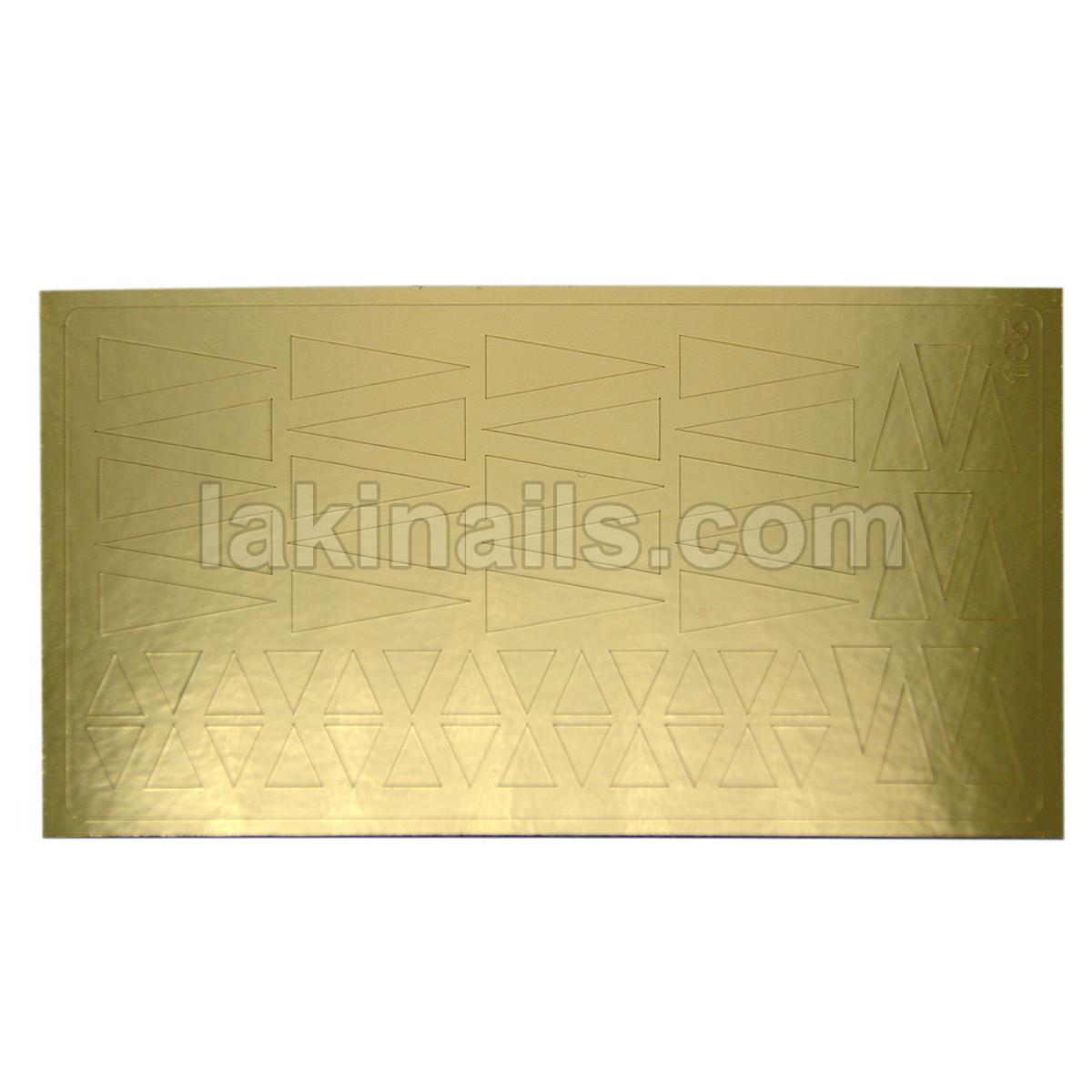 Металлизированные наклейки, золото, 185G