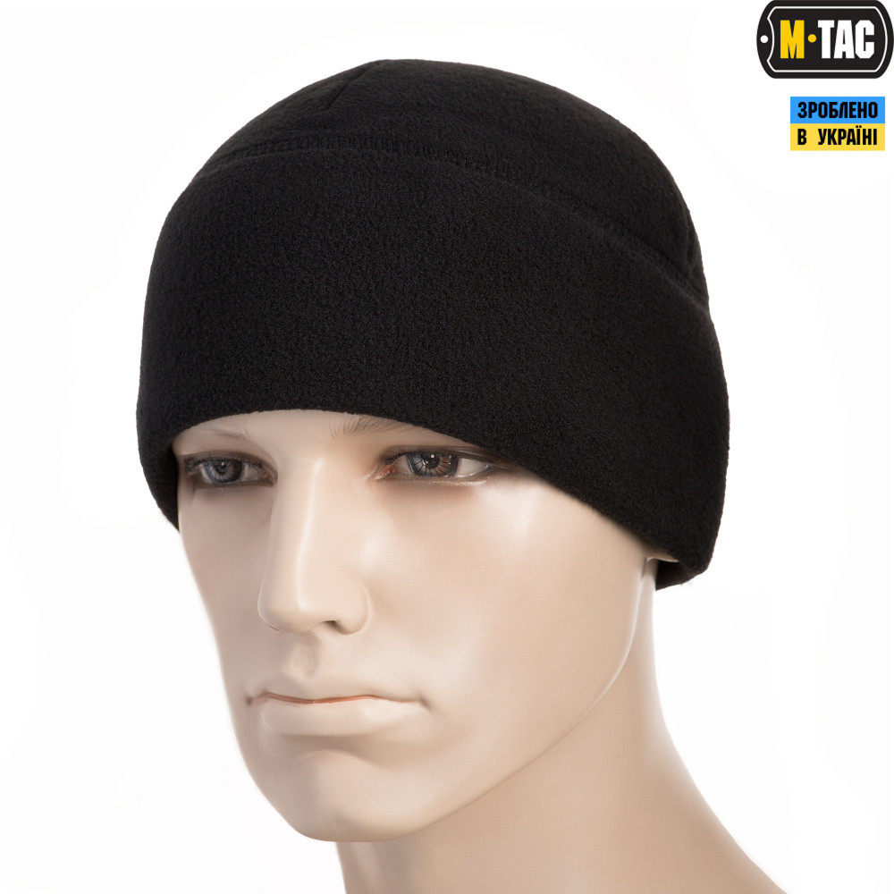 M-Tac шапка Watch Cap флис (330г/м2) черная