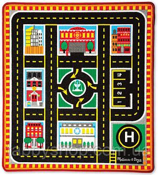 """Игровой коврик Melissa&Doug """"Спасательные автомобили"""" с машинками"""
