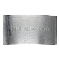 Металлизированные наклейки, серебро, 187S