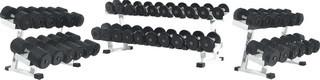 Гантельный ряд обрезиненный со стойками 3-55 кг (22 пар, 918 кг)