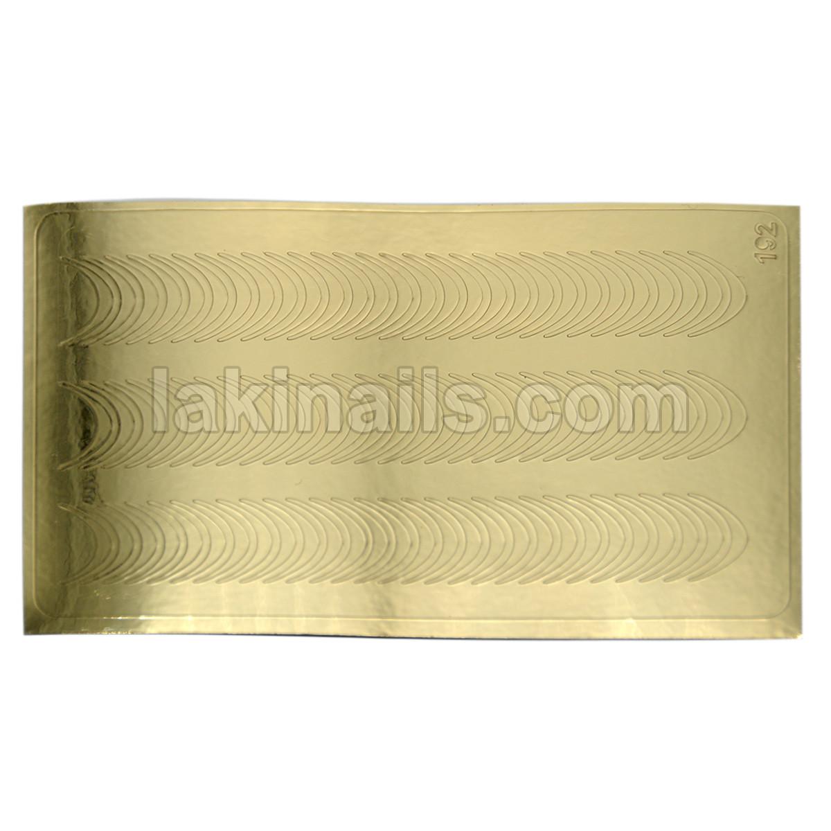 Металлизированные наклейки, золото, 192G