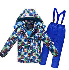 Лыжный костюм детский - Синие буквы