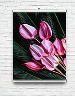 ТОП!! Постеры для дома, гостинной, цветы, природа, пейзажи картины с цветамы глянцевые!!