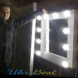 Зеркало для макияжа с подсветкой 65*65 см