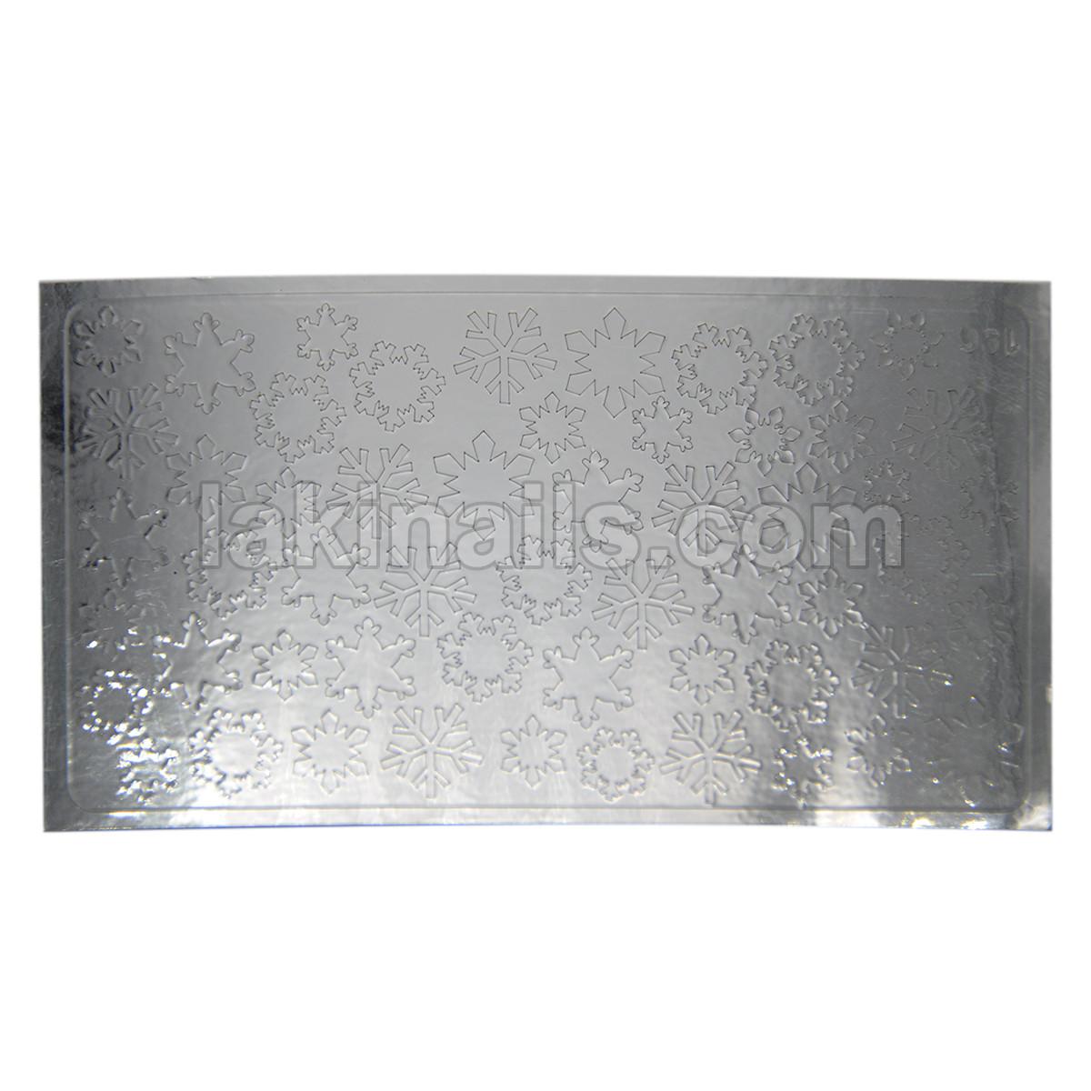 Металлизированные наклейки, серебро, 196S