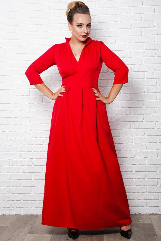 Батальное красное платье Гарсия