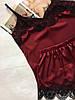 Женская шелковая пижама вишня, фото 2