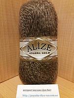Зимняя пряжа (20% шерсть, 80% акрил; 100г/550м) Alize Angora Gold 703(коричневый мулине)