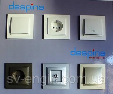 DESPINA (MONO ELECTRIC, Турция) - выключатели и розетки