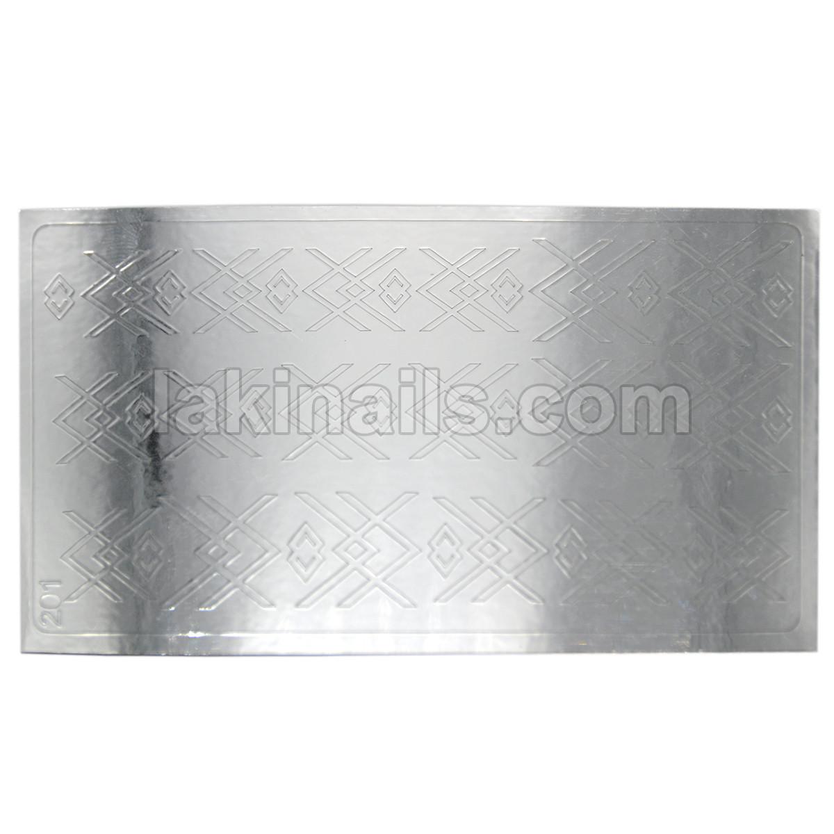 Металлизированные наклейки, серебро, 201S