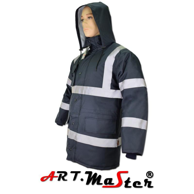 Куртка защитная зимняя ARTMAS темно синего цвета KURTKA FLASH short navy blue