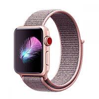 Ремешок Sport loop для Apple Watch 38/40mm нейлоновый розовый спортивный ARM Series 5 4 3 2 1 Pink Sand