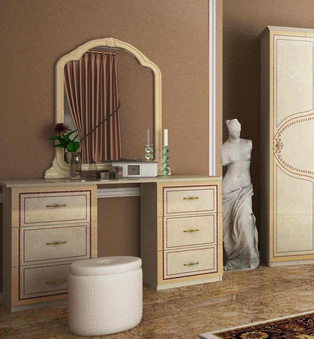 """Туалетний столик """"Мартіна""""  від Миро-Марк (радика беж)."""