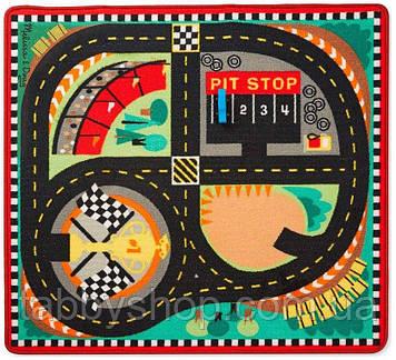 """Игровой коврик Melissa&Doug """"Гоночная трасса"""" с машинками"""