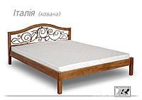 """Кровать деревянная """"Италия""""с ковкой"""