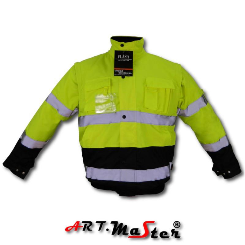 Куртка зимняя светоотражающая ARTMAS желтого цвета KURTKA FLASH short B yellow