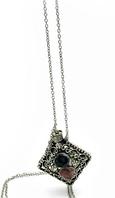 Аромакулон бронзовый с камнями (5х4,5х2 см)