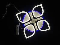 Світлодіодна люстра led dimmer біла з синім підсвічуванням, фото 1