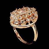 Кольцо серебряное с натуральными морганитами размер 17.5, фото 3