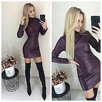 """Стильное платье мини """" Экокожа """" Dress Code, фото 1"""