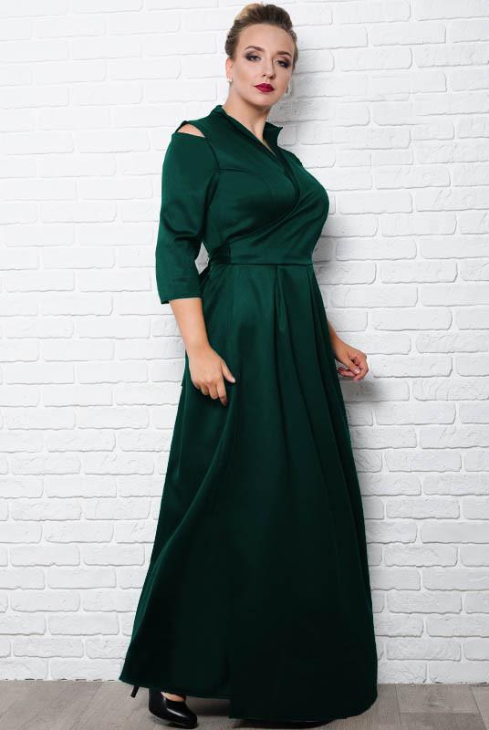 Длинное платье большого размера Гарсия, изумрудное
