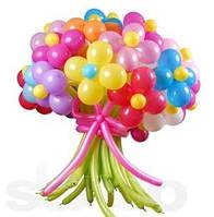 Огромный букет цветов из шаров
