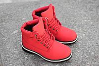 Женские зимние ботинки Timberland (красные)