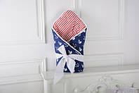 Демисезонный конверт-одеяло на выписку «Морской», фото 1