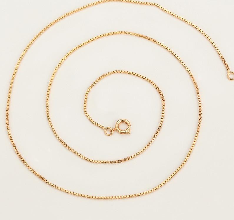 Ланцюжок плетіння Черепашка 45 см. ширина 1 мм позолота 18К