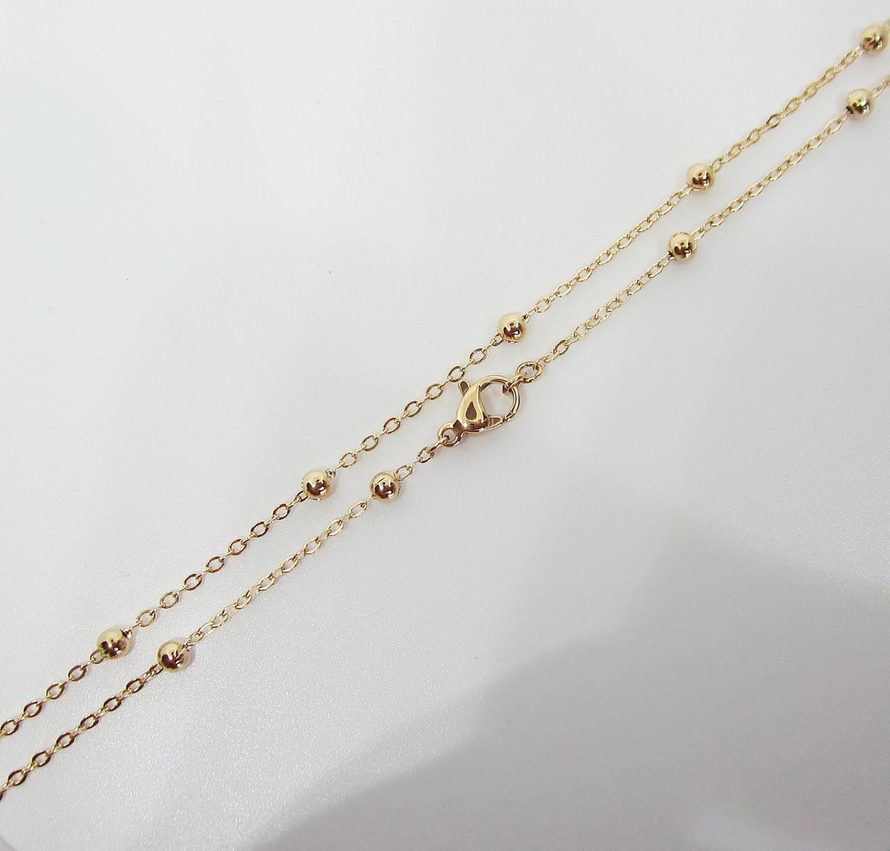 Цепочка плетение Перлина 46 см. ширина 3 мм