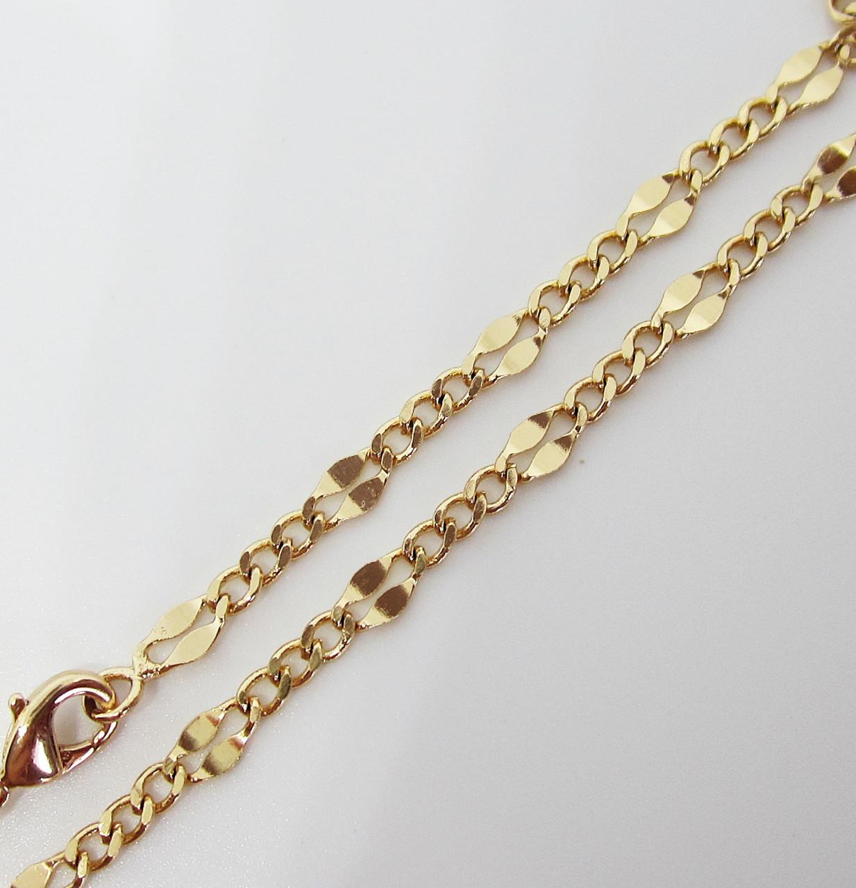 Цепочка плетение Комбинированное 45 см. ширина 3 мм