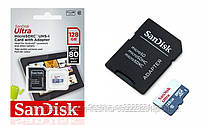 microSDXC (UHS-1) SanDisk Ultra 128Gb class 10 (80Mb/s, 533x) (adapter SD)