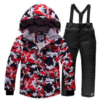 Лыжный костюм для взрослых Красный/Черный