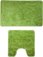 Набір килимків для ванної (Туреччина) 2 шт. зелений