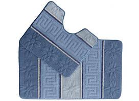 Набір килимків для ванної (Туреччина) 2 шт. блакитний