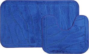 Набір килимків для ванної (Туреччина) 2 шт. синій