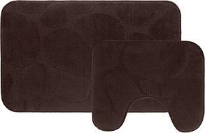 Набір килимків для ванної (Туреччина) 2 шт. коричневий