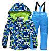 Лыжный костюм для взрослых Синий милитари - 3 варианта, фото 2